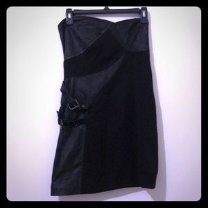 New. Two Tone Mini Black Dress